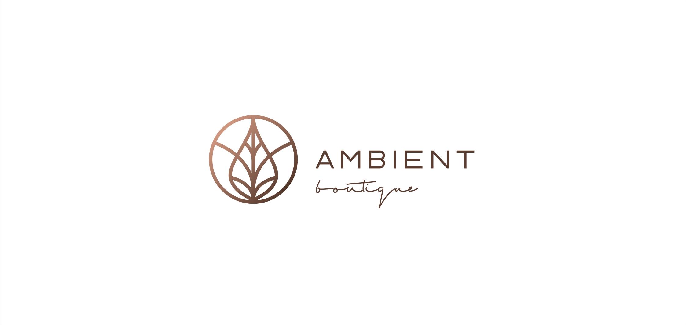 abmient boutique logotipas parduotuvei