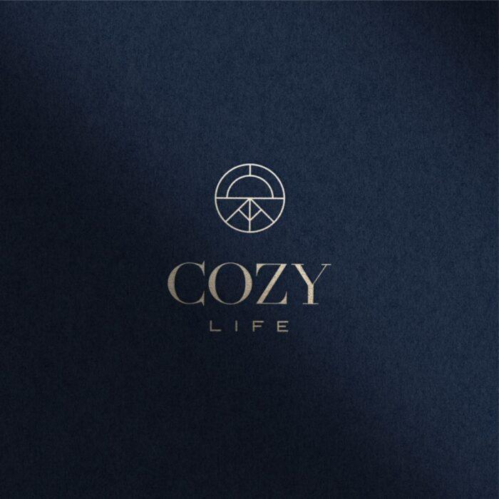 logotipas nekilnojamojo turto projektui cozy life