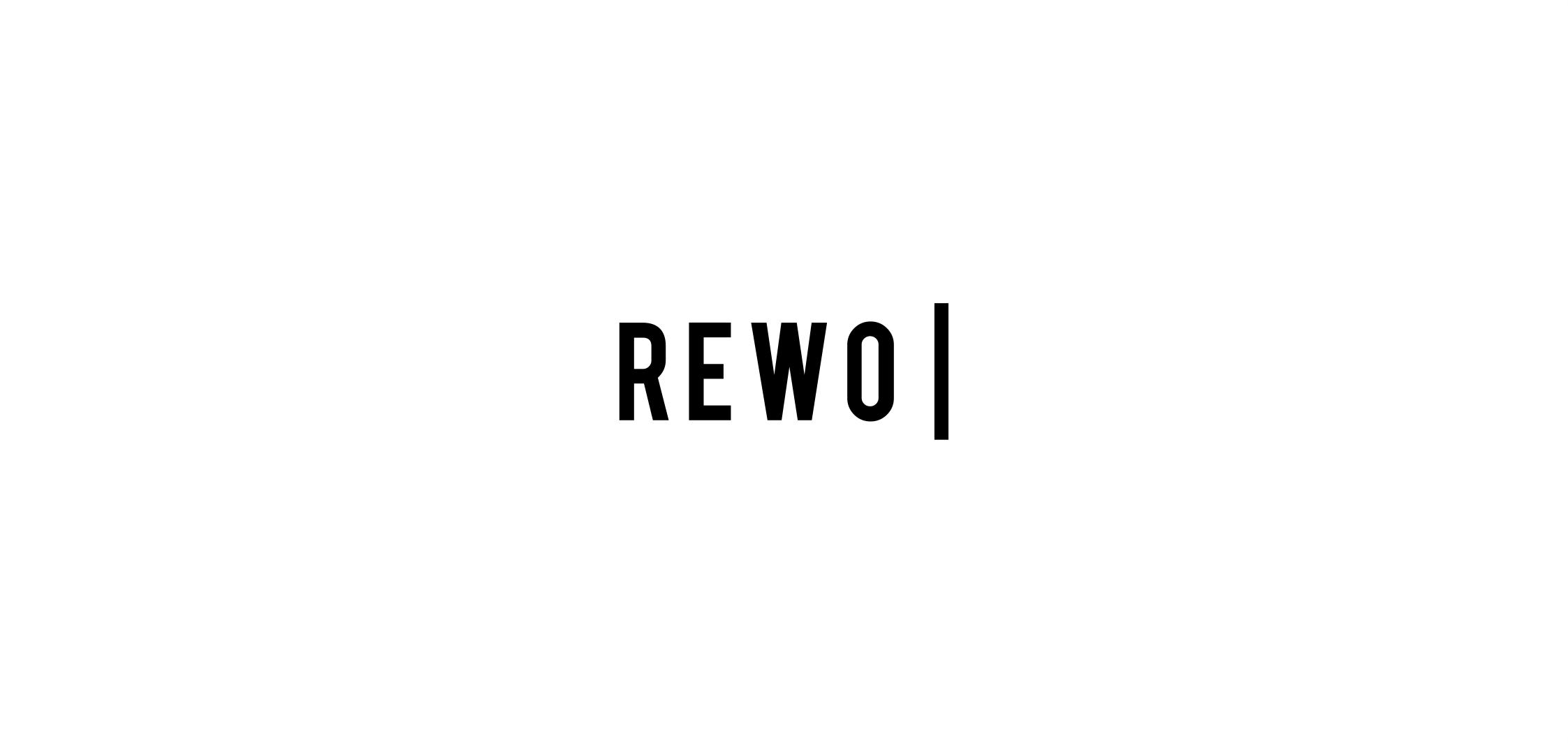 logotipas nekilnojamojo turto vystymo įmonei rewo